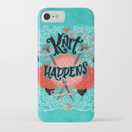 Knit Happens iPhone Case
