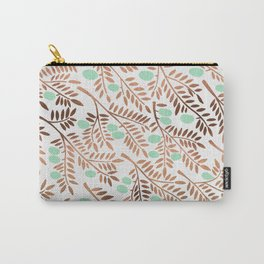 Olive Branches – Rose Gold & Mint Carry-All Pouch