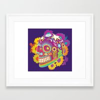 calavera Framed Art Prints featuring Calavera by KoolaidGirl
