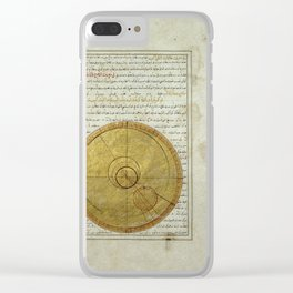 A folio from Kitab-i viladat-i Iskandar, Mercury in the Sixth House (1411) Clear iPhone Case