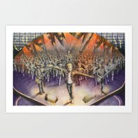 coldplay Art Prints featuring Coldplay by Carmine Bellucci