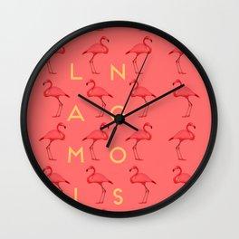 Flamingos #4 Wall Clock