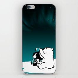Icelandic bear, aurora borealis iPhone Skin