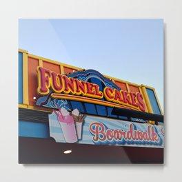 Vintage Funnel Cake Sign Metal Print