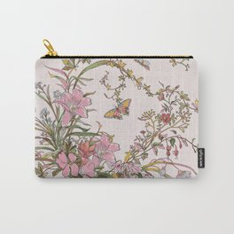 Spring Florals Lavender Carry-All Pouch