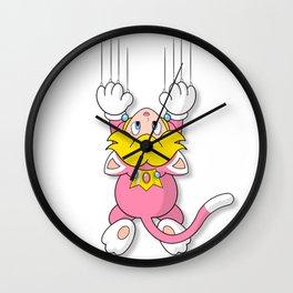 Cat Peach Wall Clock