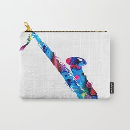 Colorful Saxophone by Sharon Cummings Carry-All Pouch