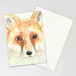 Watercolour Fox Stationery Cards