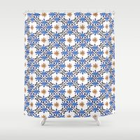 morocco Shower Curtains featuring Morocco by Charlotte Rigby