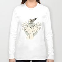 raven Long Sleeve T-shirts featuring Raven by Marie Toh
