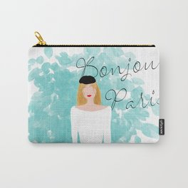 Bonjour Paris Carry-All Pouch