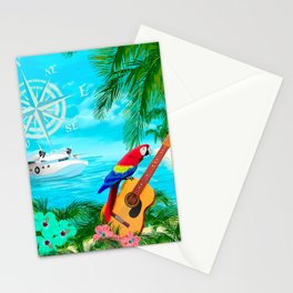 Tropical Travels Stationery Cards