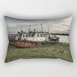 Old Police Boats Rectangular Pillow