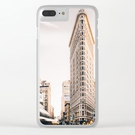 Flat Iron Building, architecture Clear iPhone Case