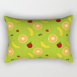 Colorful Fruit Salad Rectangular Pillow