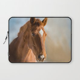 Brown Horse Winter Sky Laptop Sleeve