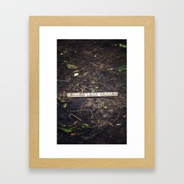 follow your dreams... Framed Art Print