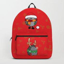 Christmas hedgehogs Backpack
