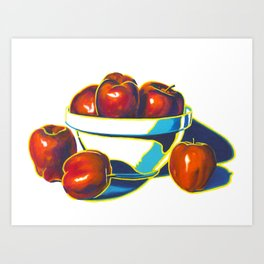 Deez Apples Art Print
