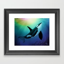 """The Dreamer Ascends"" by artist Amber Marine ~ (Copyright 2015) ~ Orca / Killer Whale Art Framed Art Print"