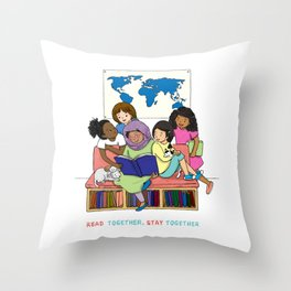 Read Together Stay Together Throw Pillow