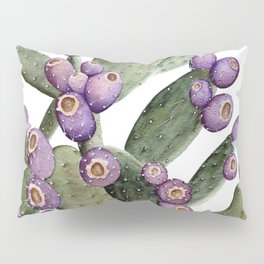 Purple Prickly Pear Painting Pillow Sham