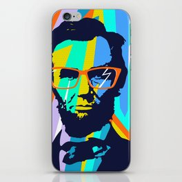 HIPSTER LINCOLN POP ART iPhone Skin
