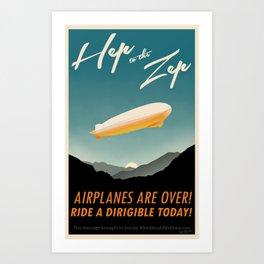 Hep to the Zep Art Print