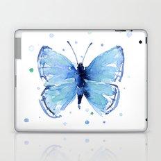 Blue Butterfly Watercolor Butterflies Animals Laptop & iPad Skin