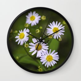 Pretty Flowers Wall Clock