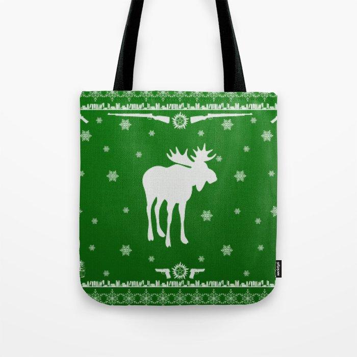 Supernatural Sam Holiday Sweater Tote Bag