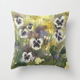 Pansies Throw Pillow