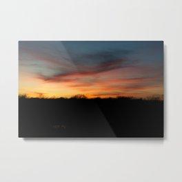 Brushstroke Sunset Metal Print