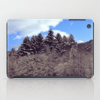 forrest iPad Cases featuring Christmas forrest by Shitmonkey