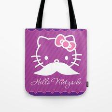 Hello Nietzsche (white) Tote Bag