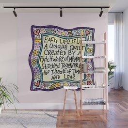Quilt Quote II Wall Mural