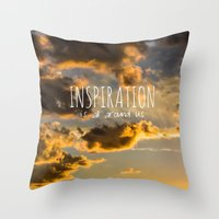 inspiration Throw Pillows featuring Inspiration by Michelle McConnell