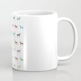 Colorful Horses Lantern Pattern  Coffee Mug