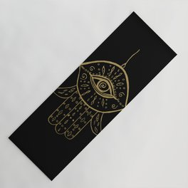 d81c774e1 Hamsa Hand Gold on Black #1 #drawing #decor #art #society6 Yoga