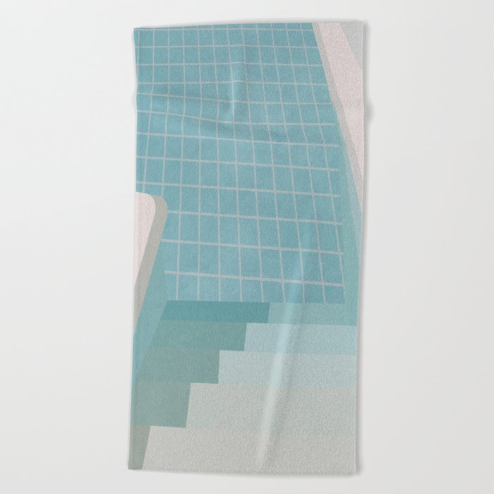 Swimming Pool Summer Beach Towel by alisagal