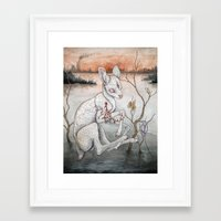 plain Framed Art Prints featuring Ghosts From The Flood Plain by Caitlin Hackett