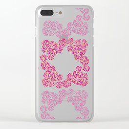 Digital Overlapping Colourful Cluster of Roses Design Clear iPhone Case