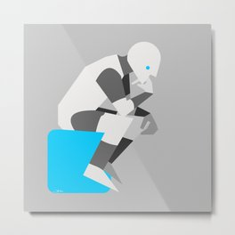 popfuture: roboThinker Metal Print
