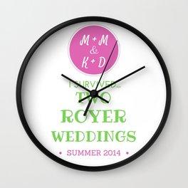 ROYER WEDDING FINAL Wall Clock