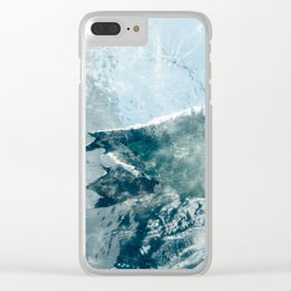 Swimming Penguin Clear iPhone Case