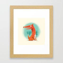 Red Dog Framed Art Print