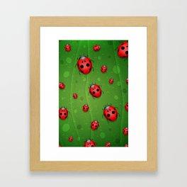 Pattern coccinelle Framed Art Print