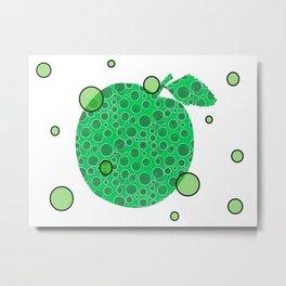 Mod Green Apple Metal Print