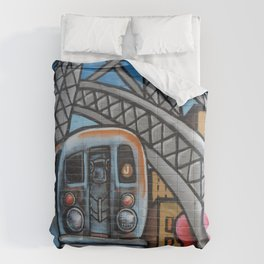 Subway Train Urban Street Art Graffiti Comforters