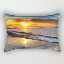 beach-sunset Rectangular Pillow